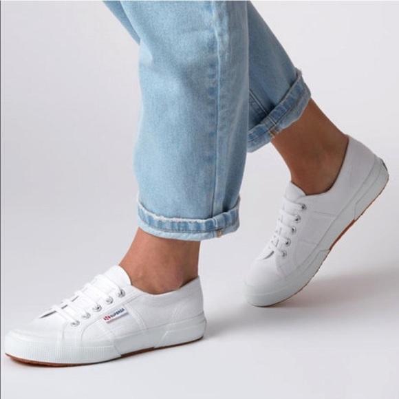 a2cb617e79 Superga White Cotu Sneaker. M 5ca6ad5629f030d8d7c179f5